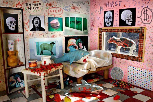 2-Habitación de fanático de Damien Hirst